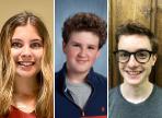 headshots of the three FLHS National Merit Scholarship Program semifinalists